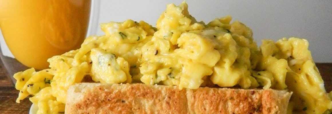 Creamed-and-Herbed-Scrambled-Eggs-Plated-Level-Shot