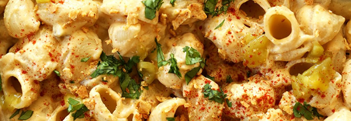 Vegan-Green-Chili-Mac-n-Cheese-30-minutes-from-start-to-finish-and-SO-creamy-and-satisfying